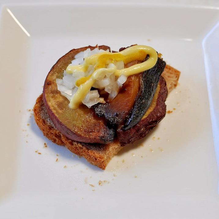 焼き芋&鰤味噌漬け焼きdeおつまみトースト