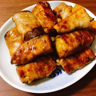なすの豚バラ巻き【焼肉のタレ味】