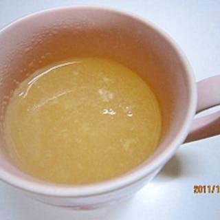 風対策に 蜂蜜生姜湯