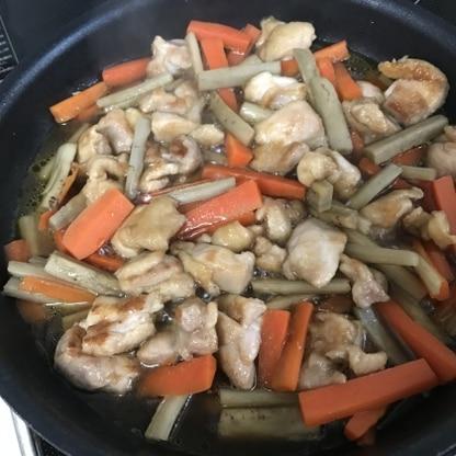 鶏もも肉で作りました。ご飯がすすむお味で、とても美味しかったです。ごちそうさまでした♪