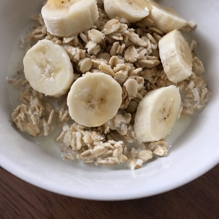 豆乳メープル★バナナ入りオートミール