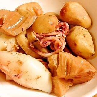 簡単和食 タケノコとイカとサトイモ