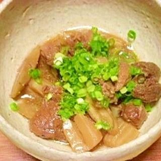 牛カレー用肉で煮込み