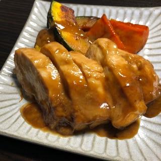 鶏むね肉の利休焼き(ごま醤油)