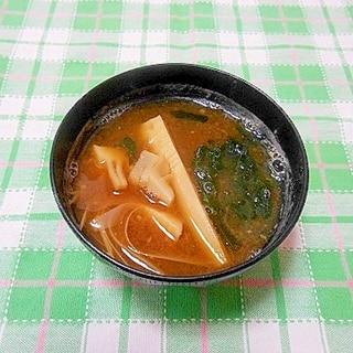 筍と板わかめのお味噌汁