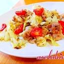 食べるオリーブオイルで味付け!10分豚きゃべトマト