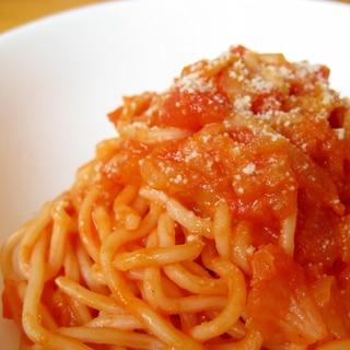 ミネストローネの残りで☆濃厚トマトチーズパスタ☆