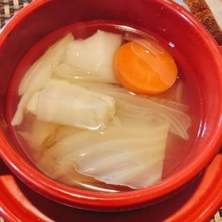 野菜だけ、フェンネルのスープ