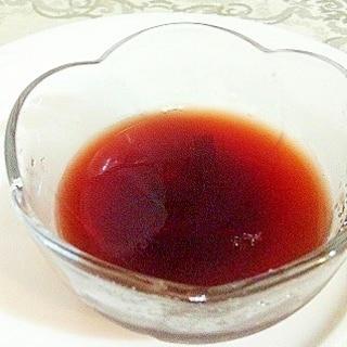 残った渋皮煮汁で栗ゼリー