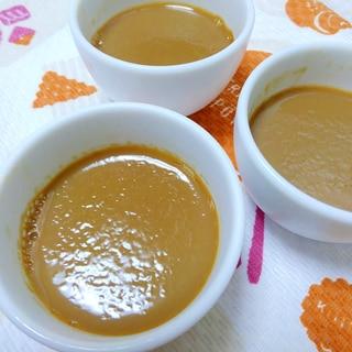 豆乳(バナナ風味)で作るカフェオレプリン