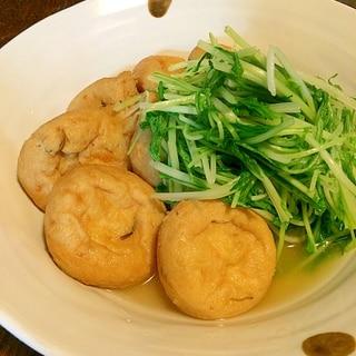 水菜とがんもどきの煮物