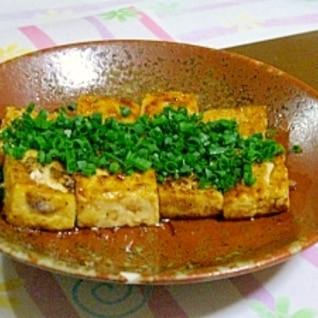 焼き豆腐の豆腐ステーキ