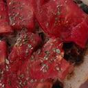 焼肉トマトトースト