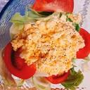 卵たっぷりレタスのサラダ