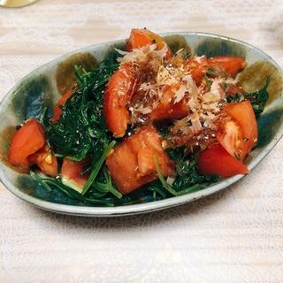 トマトとおかひじきの和風サラダ