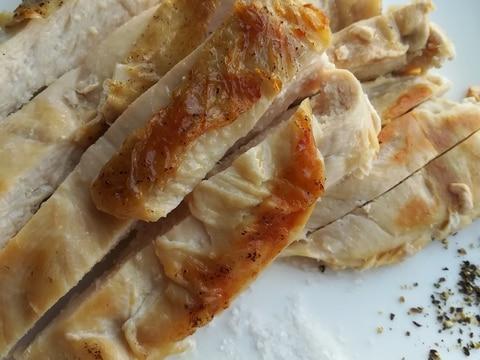 柔らかジューシー☆鶏胸肉のステーキ