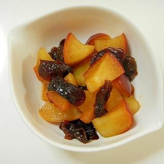 レンジで簡単!!りんごとプルーンの甘煮
