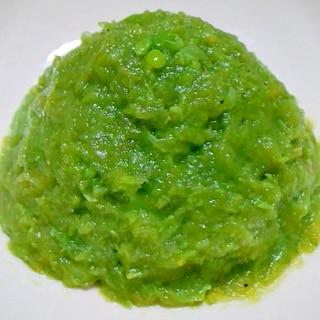 介護食:スナップエンドウのコンソメサラダ