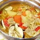 大きな玉ねぎ丸ごとカレー鍋♪西の丸ごと鍋