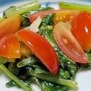 5分で!小松菜とアンチョビの炒め物