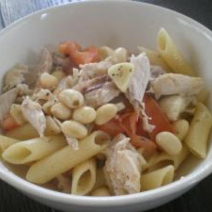 チキンと大豆のトマトペンネ