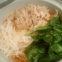 豚バラ肉とほうれん草のスタミナ鍋
