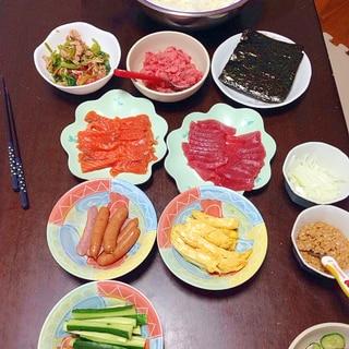子どもと一緒に!手巻き寿司