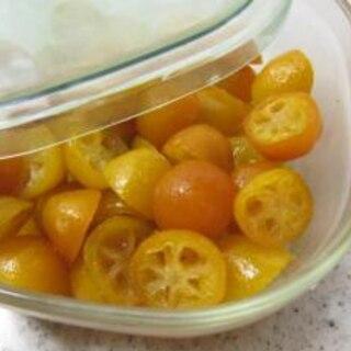 レンジで♪金柑の甘露煮