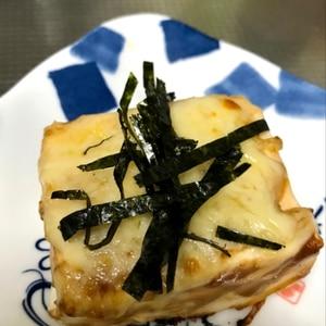 こんがり簡単1品追加♡チーズ味噌の焼き豆腐