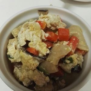 ベーコンとにんじんの炒り豆腐