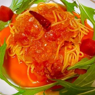 トマトジュースで冷製トマトパスタ♪