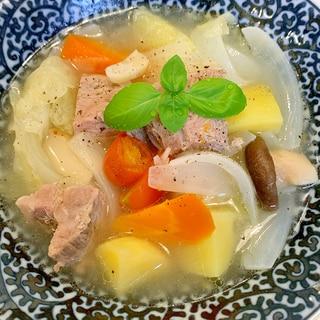 発酵豚の野菜たっぷりポトフ