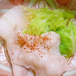 簡単♪おつまみ♪豚バラ肉と白菜の一味ポン酢和え