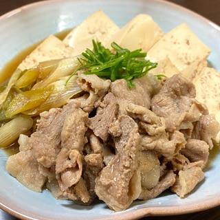 豚肉で作る!簡単肉豆腐