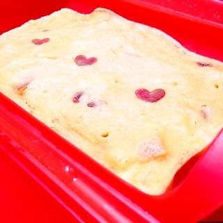 ルクエでりんごとおから入り蒸しパン