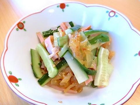 5分で完成!中華クラゲとハムときゅうりの和え物