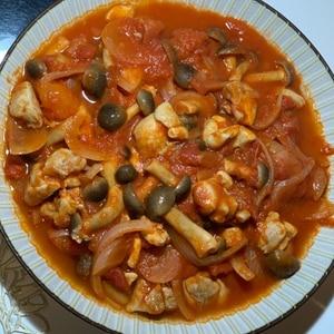 圧力鍋で簡単♪チキンのトマト煮込み