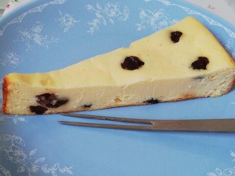 ホームベーカリーで簡単!レーズンチーズケーキ