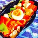 鮮やかカラーピーマンと鶏ささみ肉の和風マリネ作り方