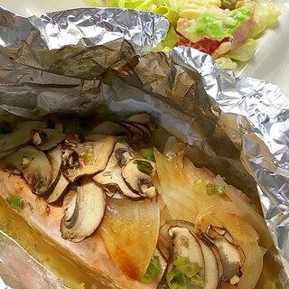 トースターまかせ!ガリバタ風味の鮭ホイル焼き