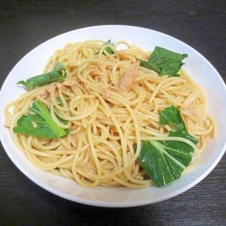 和風♪ツナと小松菜の冷製パスタ