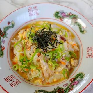 鯖の水煮の中華雑炊