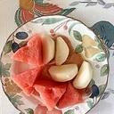 生ハム、西瓜、梨のサラダ