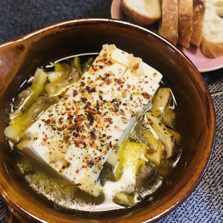 ハマるおいしさ!とにかく簡単♬豆腐のアヒージョ♡