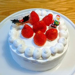 乳なし!苺のショートケーキ