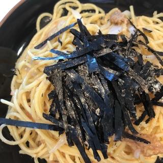 ランチや夕食に たらこイカ納豆スパゲティ