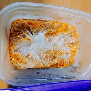 ミートソースの冷凍保存