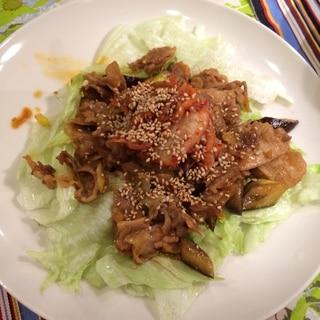 豚こま肉で韓国風おかずサラダ