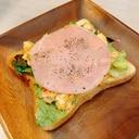 朝食に♡カフェ風ハムエッグトースト