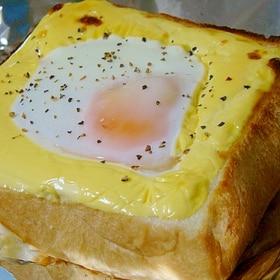 冷凍パンで♪目だまヨトースト